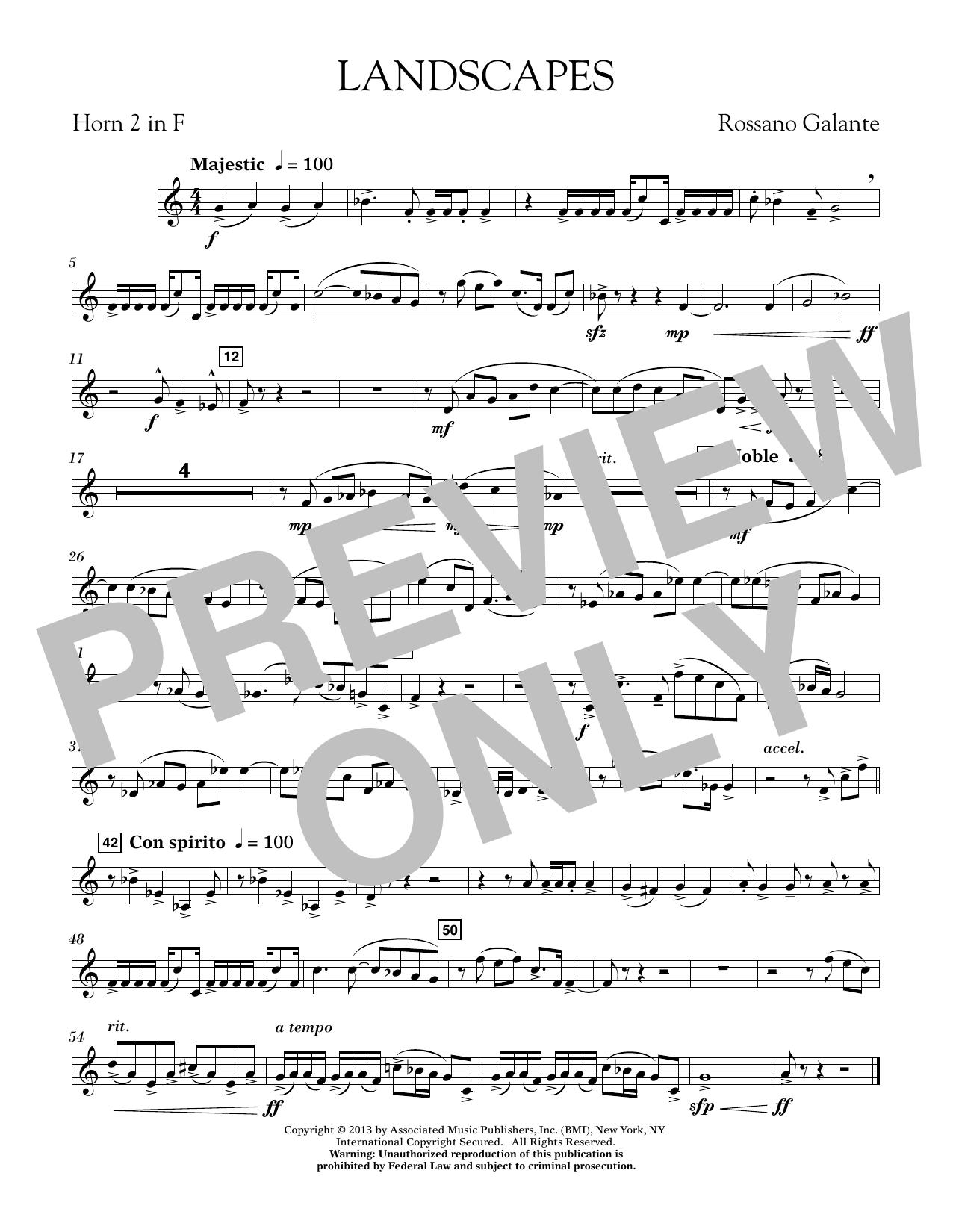 Landscapes - F Horn 2 (Concert Band)