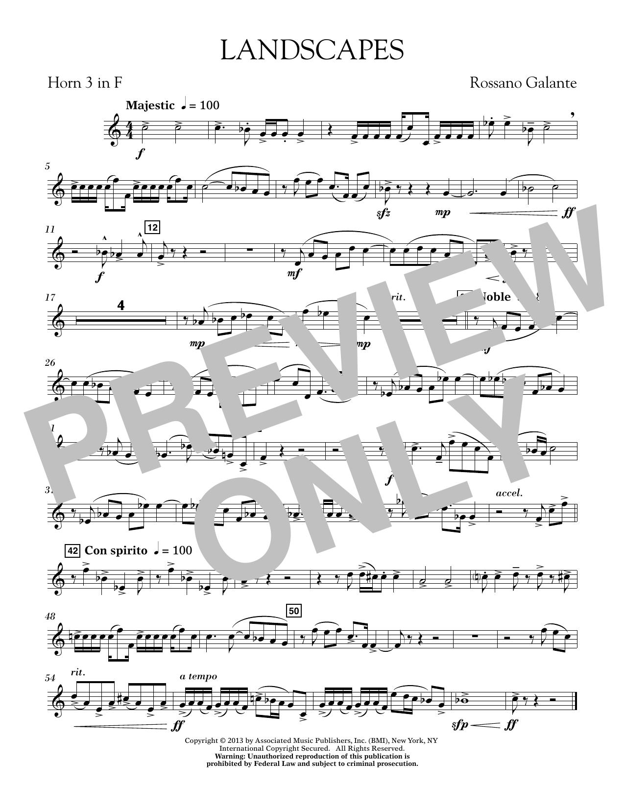 Landscapes - F Horn 3 (Concert Band)
