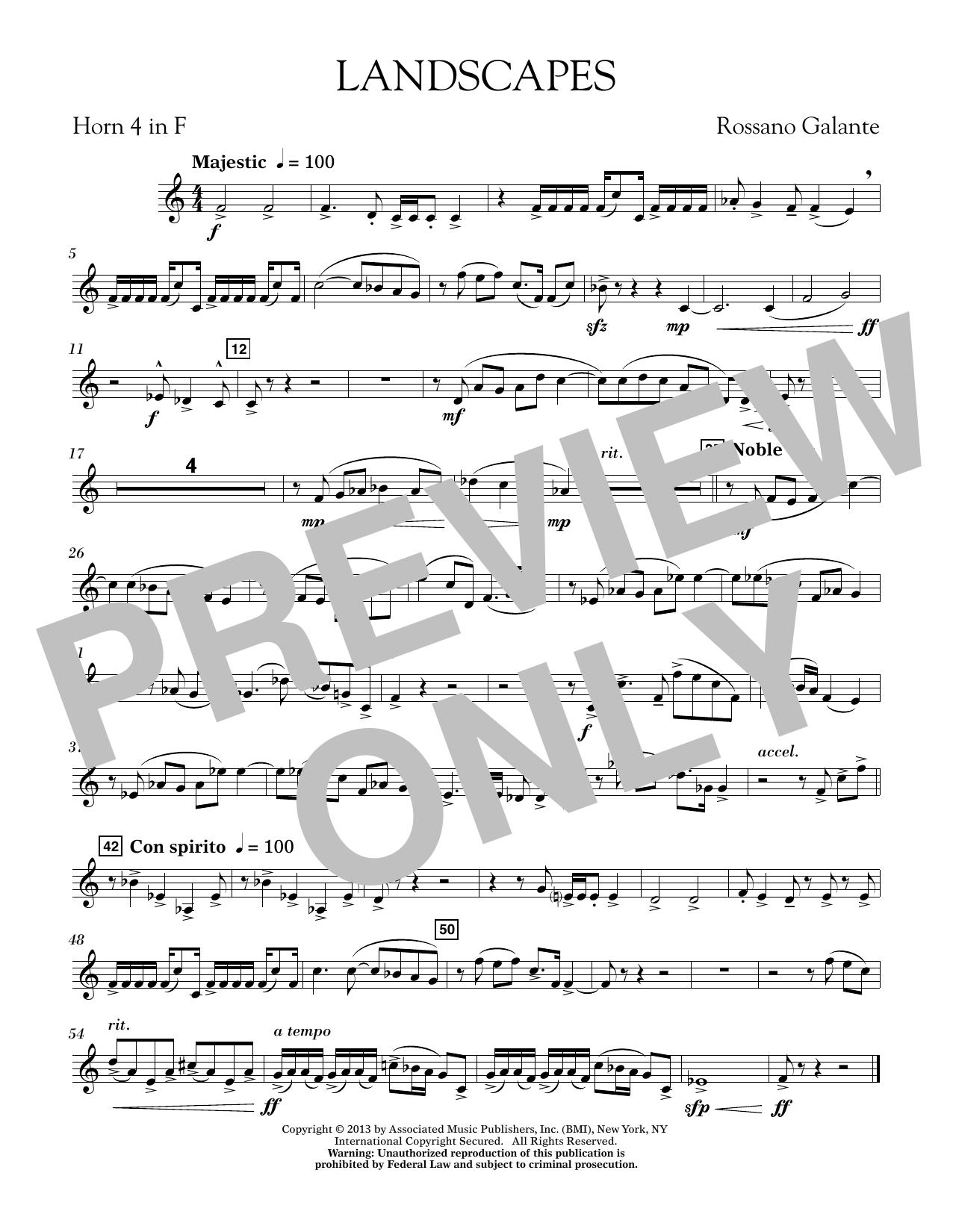 Landscapes - F Horn 4 (Concert Band)