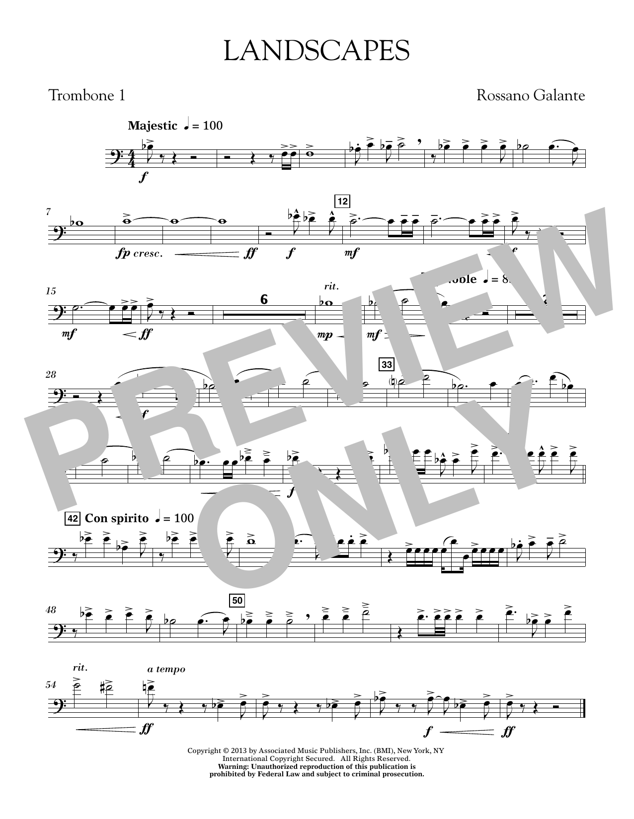 Landscapes - Trombone 1 (Concert Band)