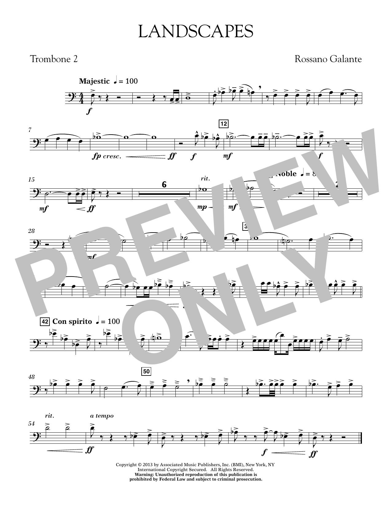 Landscapes - Trombone 2 (Concert Band)
