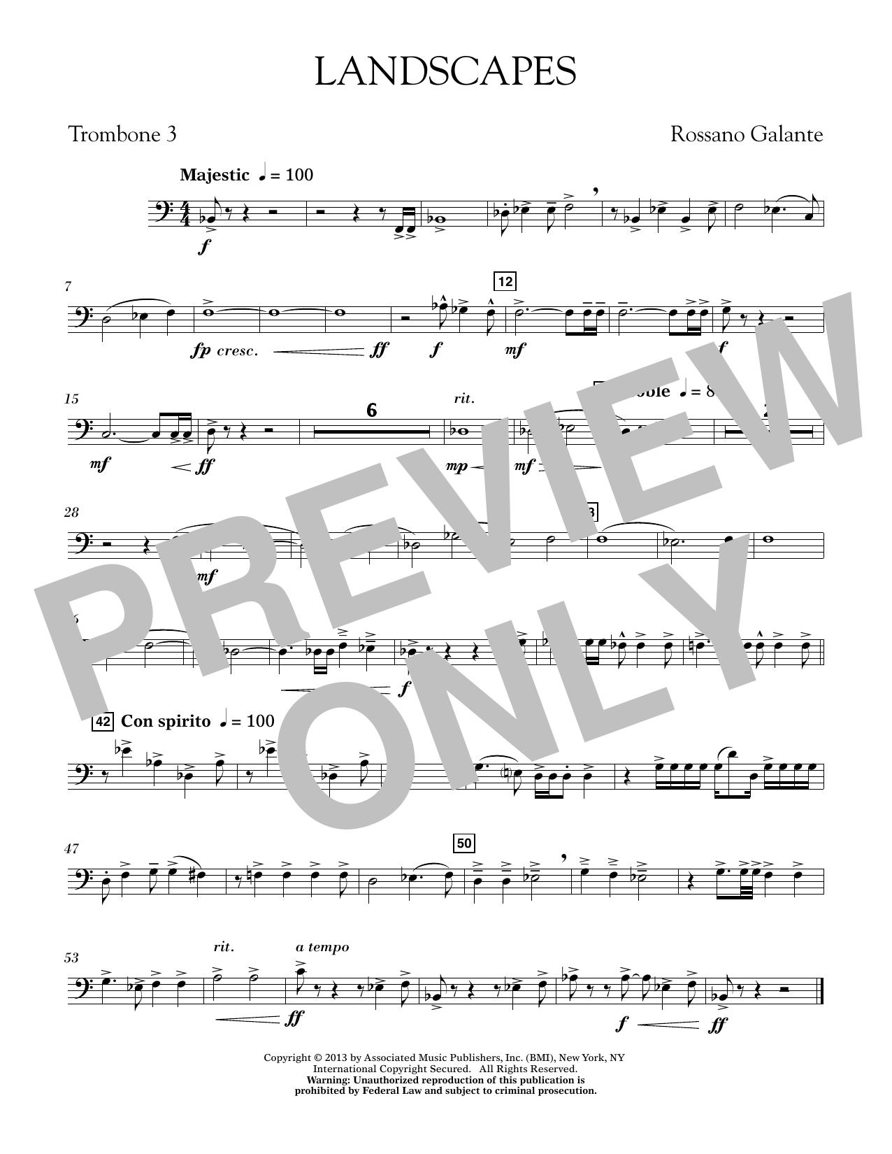 Landscapes - Trombone 3 (Concert Band)