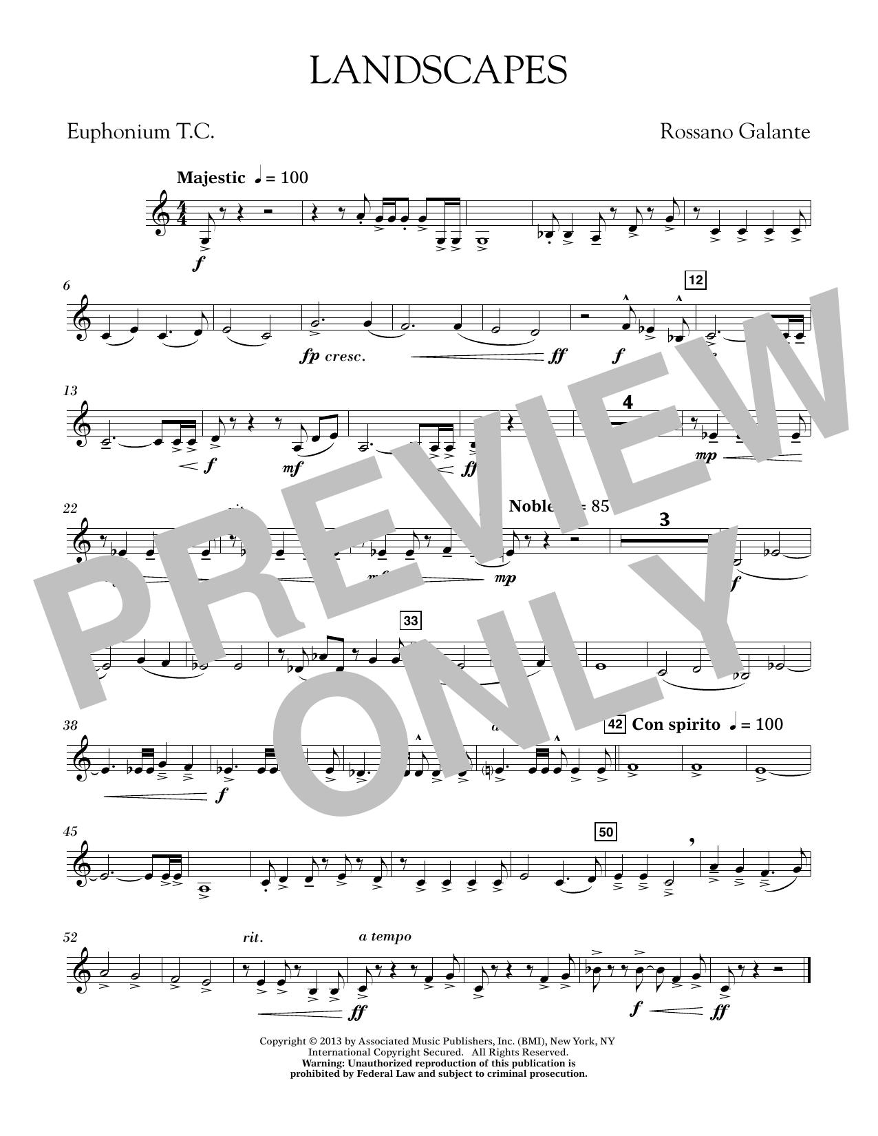 Landscapes - Euphonium in Treble Clef (Concert Band)