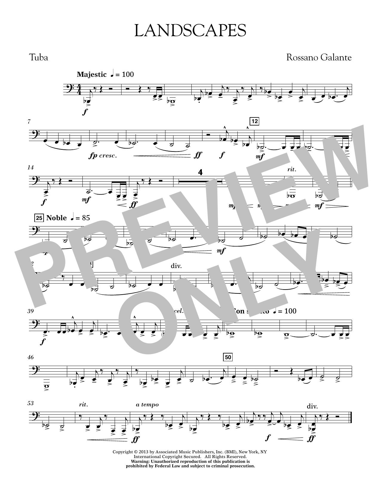 Landscapes - Tuba (Concert Band)