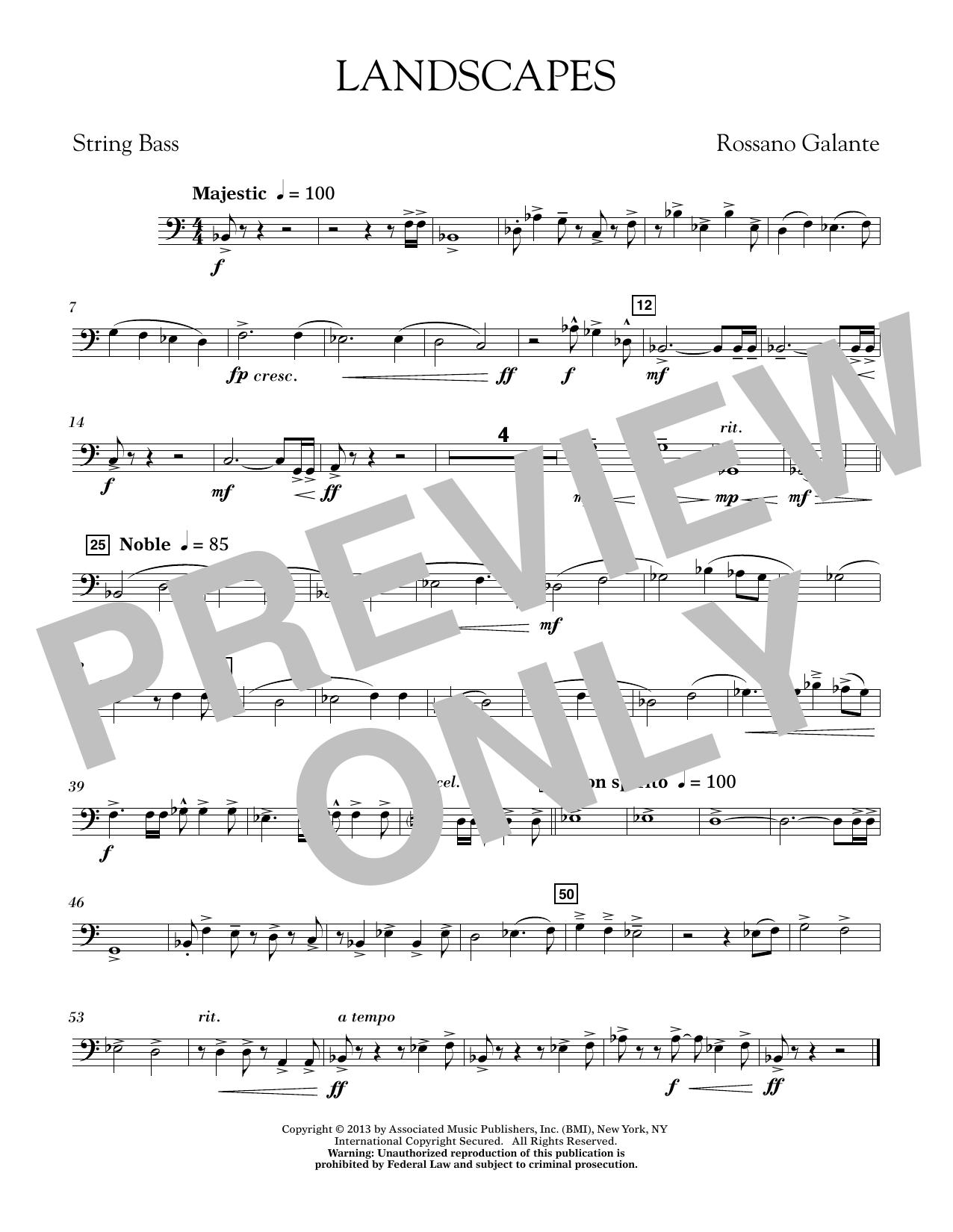 Landscapes - String Bass (Concert Band)