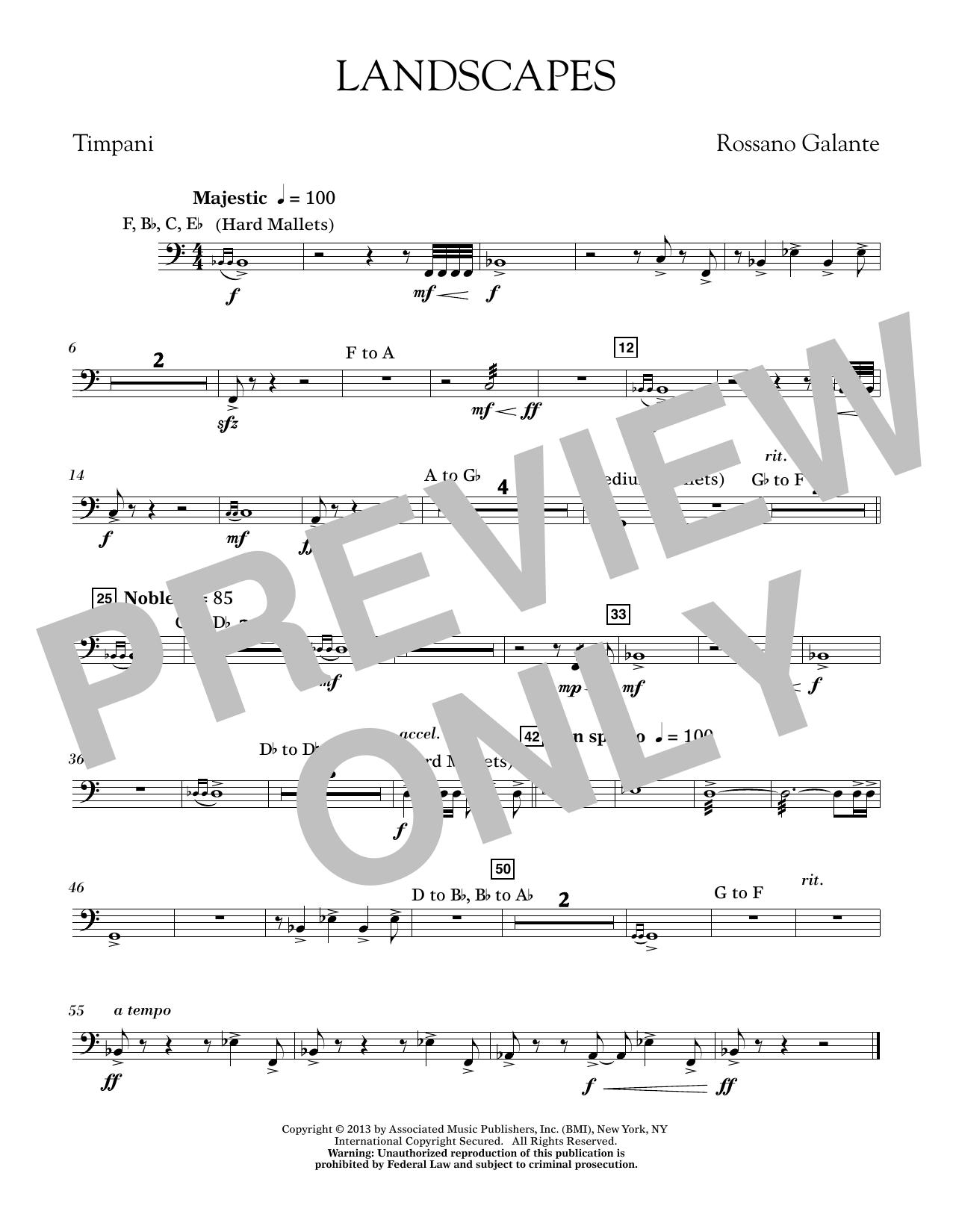 Landscapes - Timpani (Concert Band)