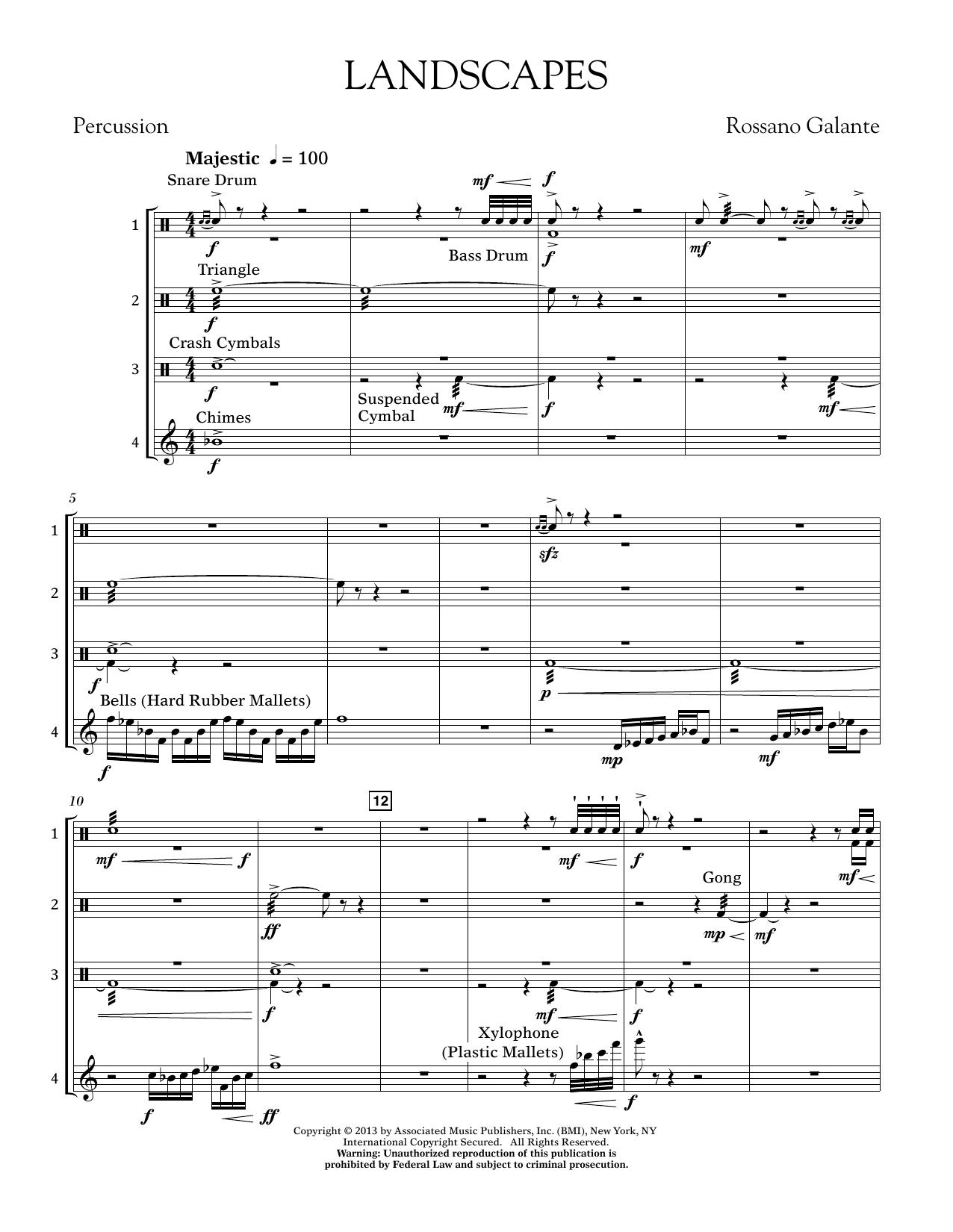 Landscapes - Percussion Score (Concert Band)