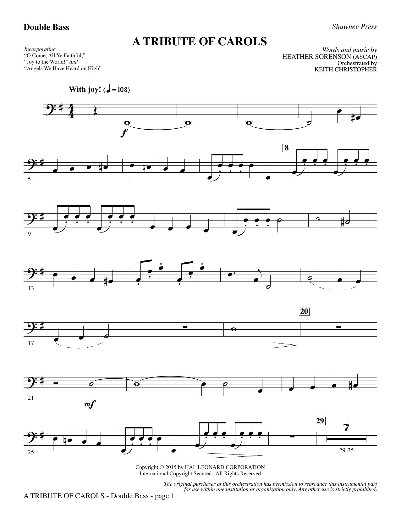A Tribute of Carols - Double Bass (Choir Instrumental Pak)
