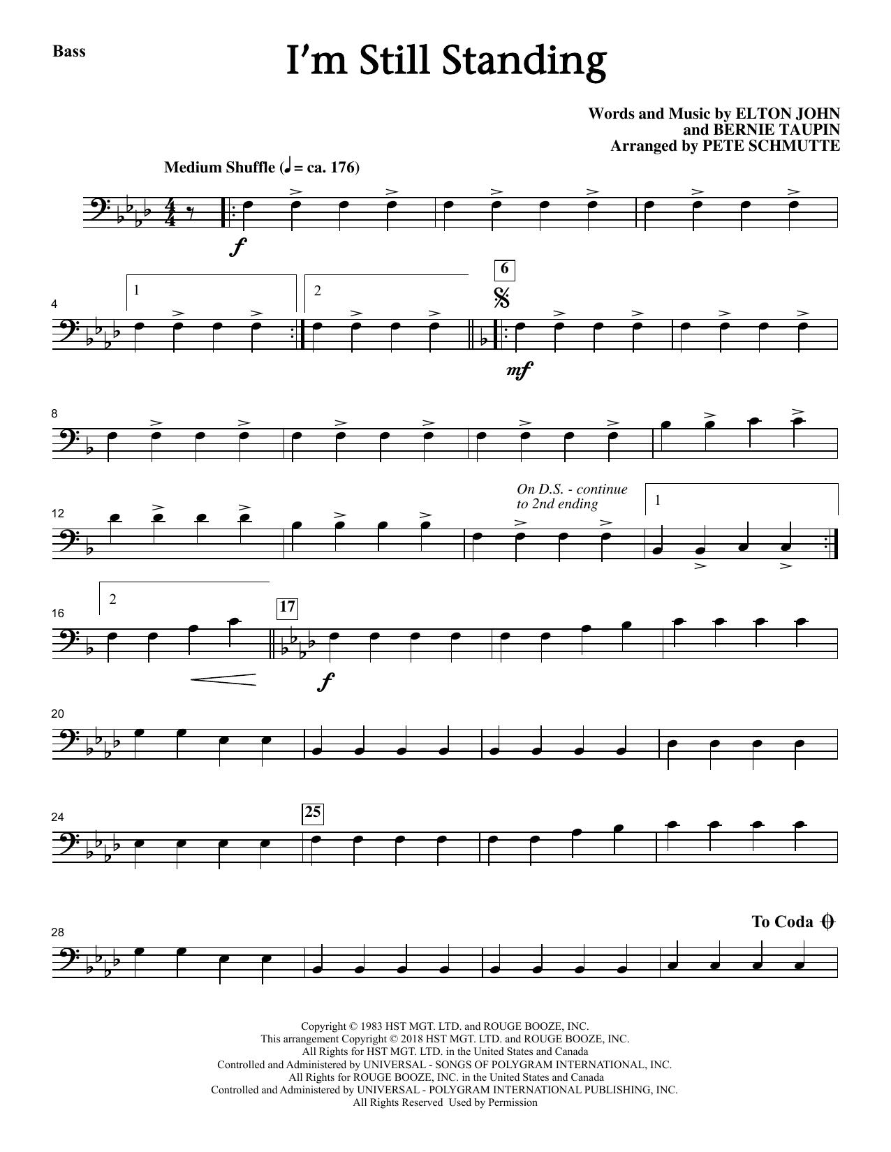 I'm Still Standing - Bass Sheet Music