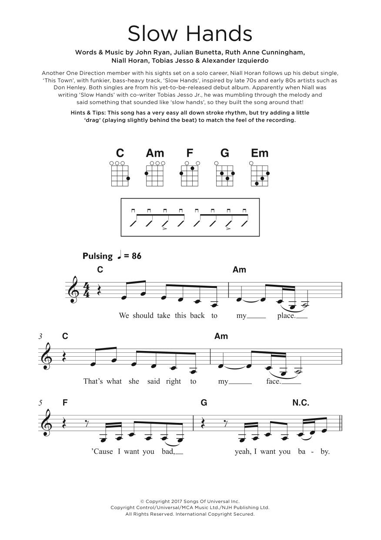 Slow Hands Sheet Music