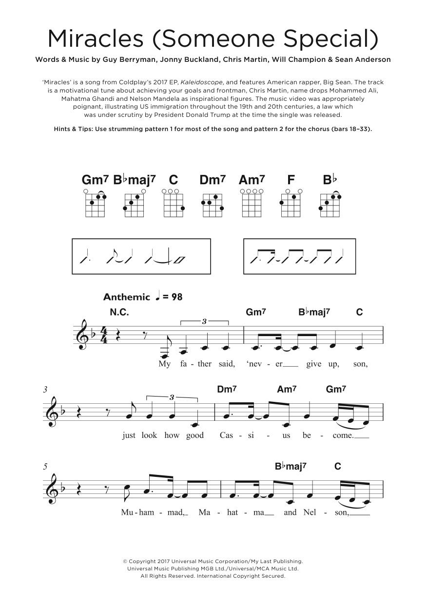 Miracles (Someone Special) (featuring Big Sean) Sheet Music