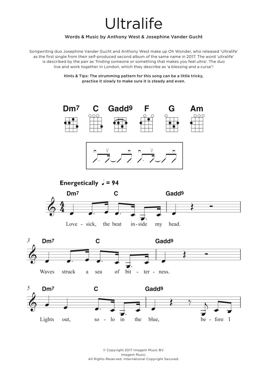 Ultralife Sheet Music