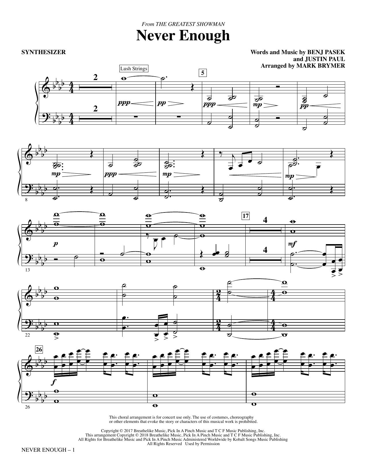 Never Enough - Synthesizer (Choir Instrumental Pak)