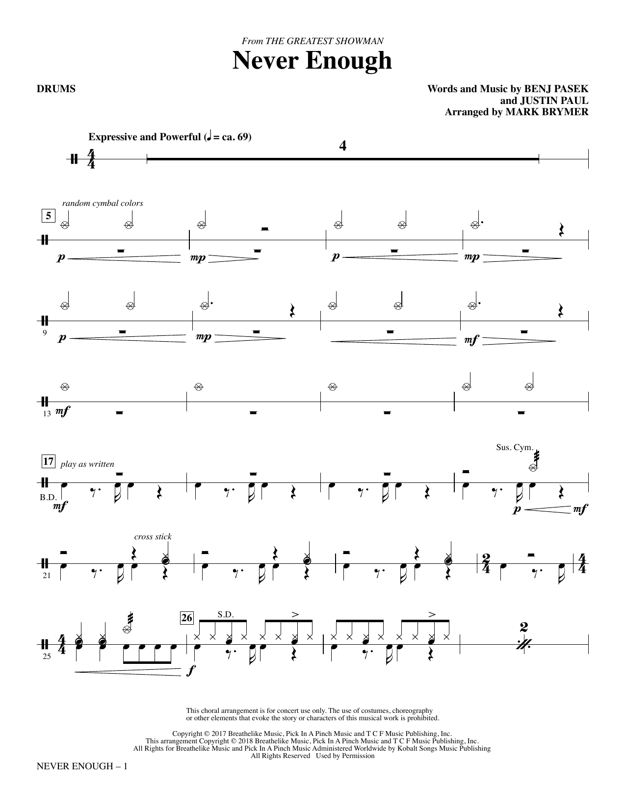 The greatest showman never enough piano sheet music free pdf