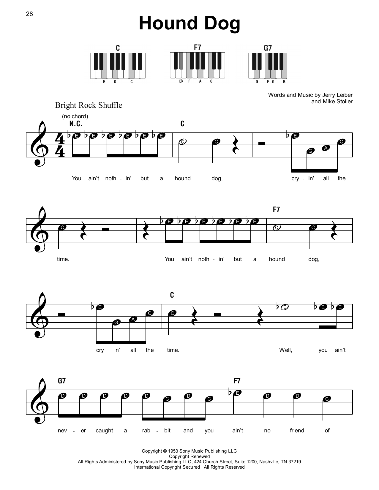 Hound Dog Sheet Music