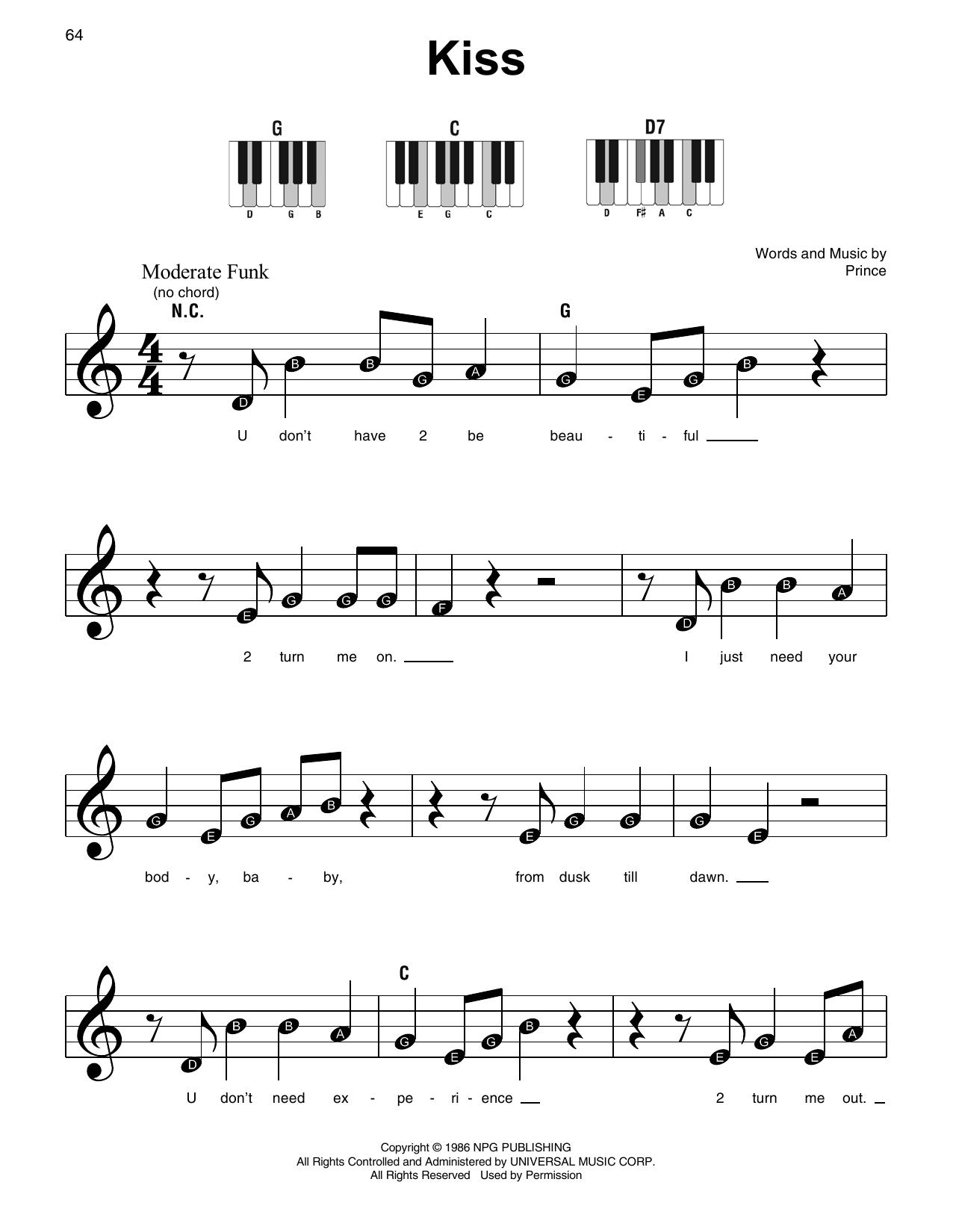 Kiss Sheet Music