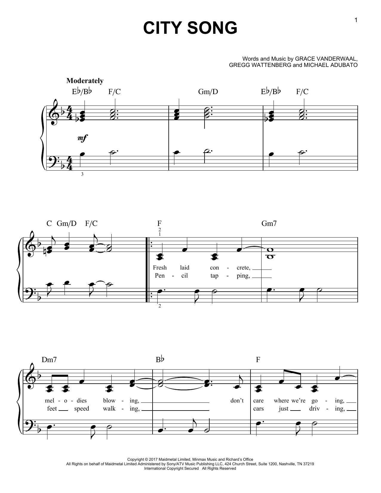City Song (Easy Piano)