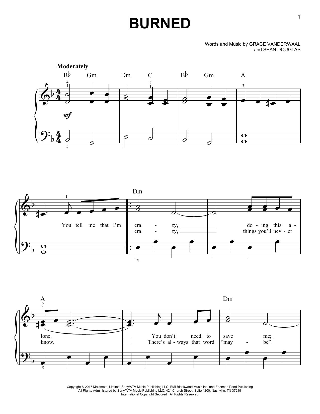Burned (Easy Piano)