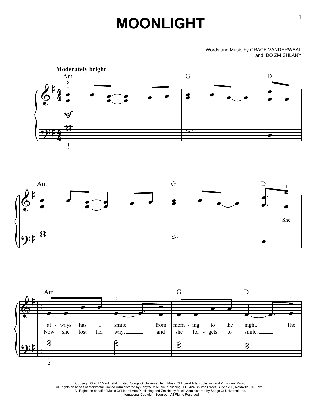 Moonlight (Easy Piano)
