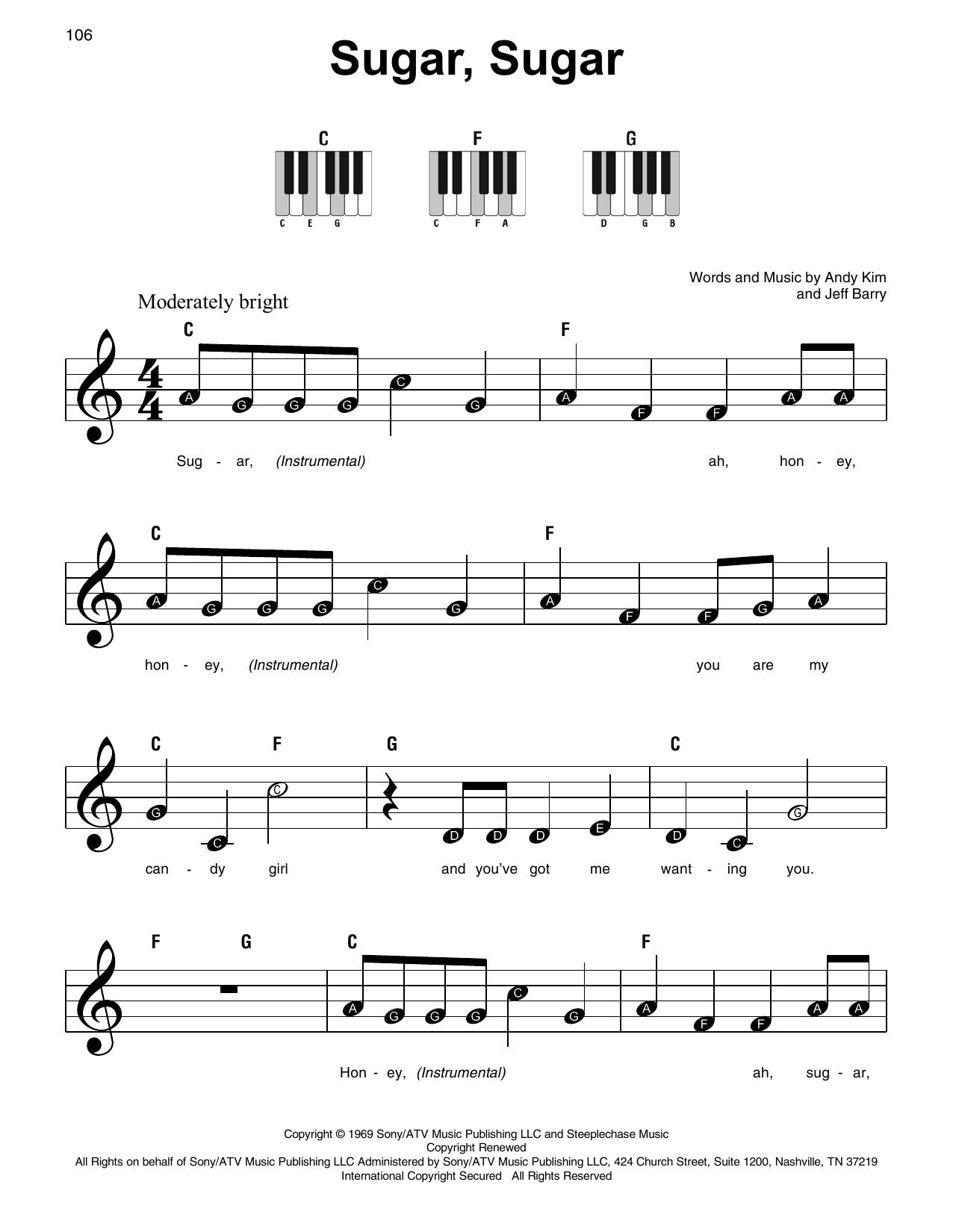 Sugar, Sugar (Super Easy Piano)