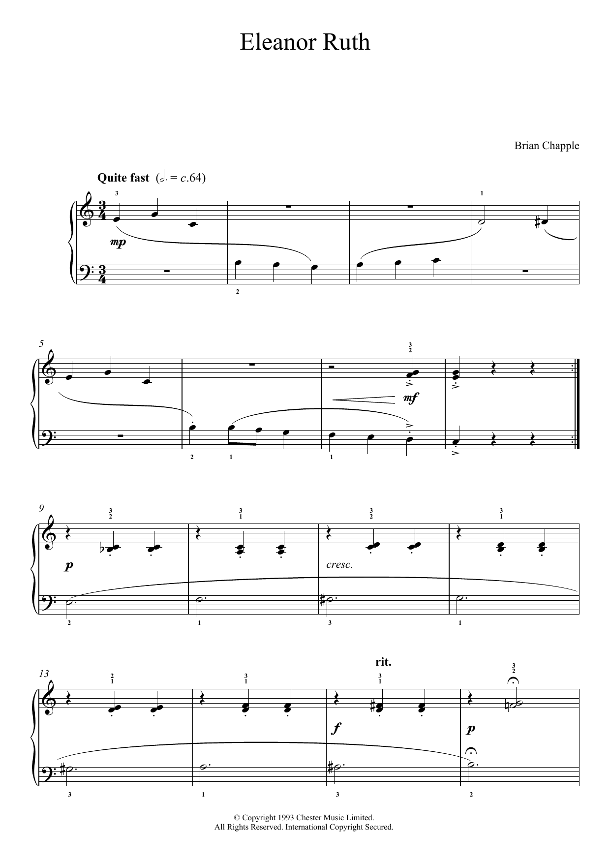 Eleanor Ruth (from In The Pink) Sheet Music
