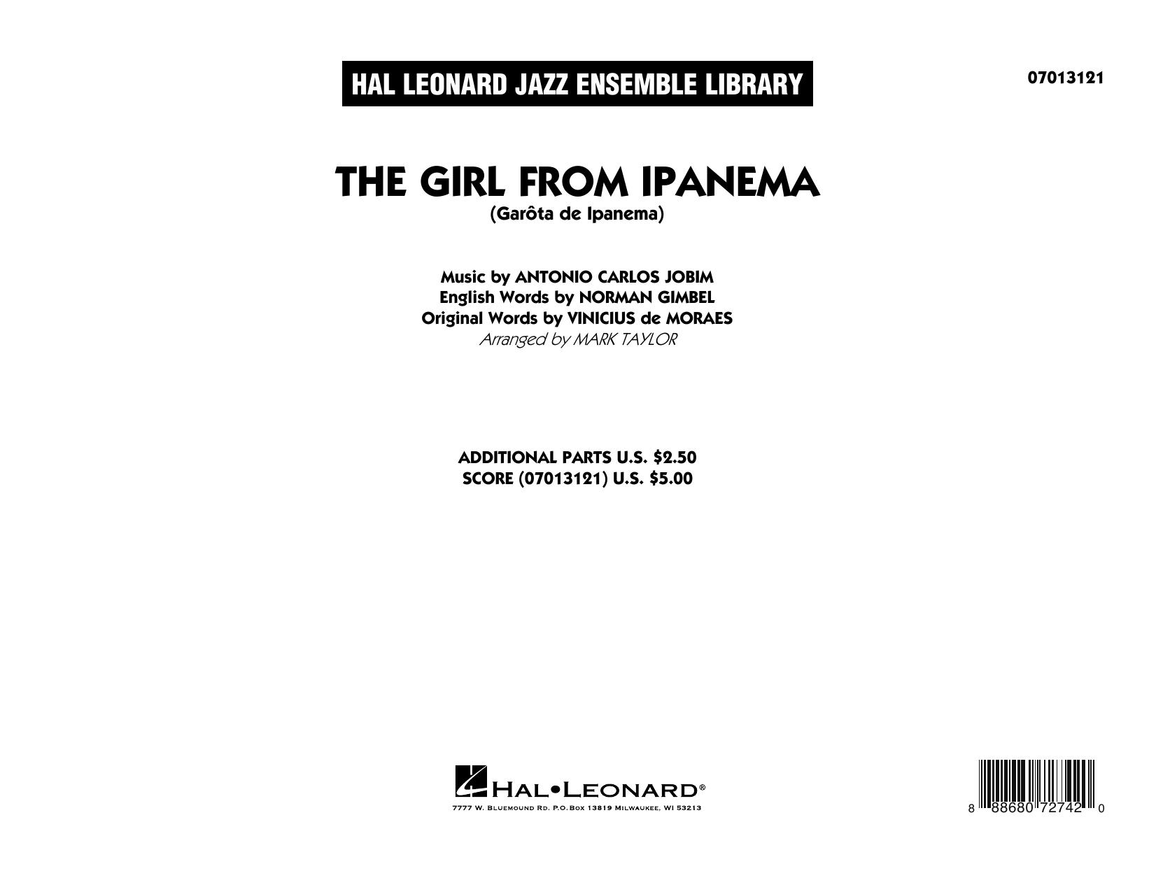 The Girl from Ipanema - Conductor Score (Full Score) (Jazz Ensemble)