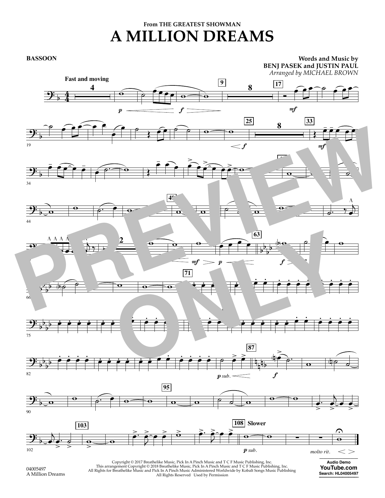 A Million Dreams (from The Greatest Showman) (arr  Michael