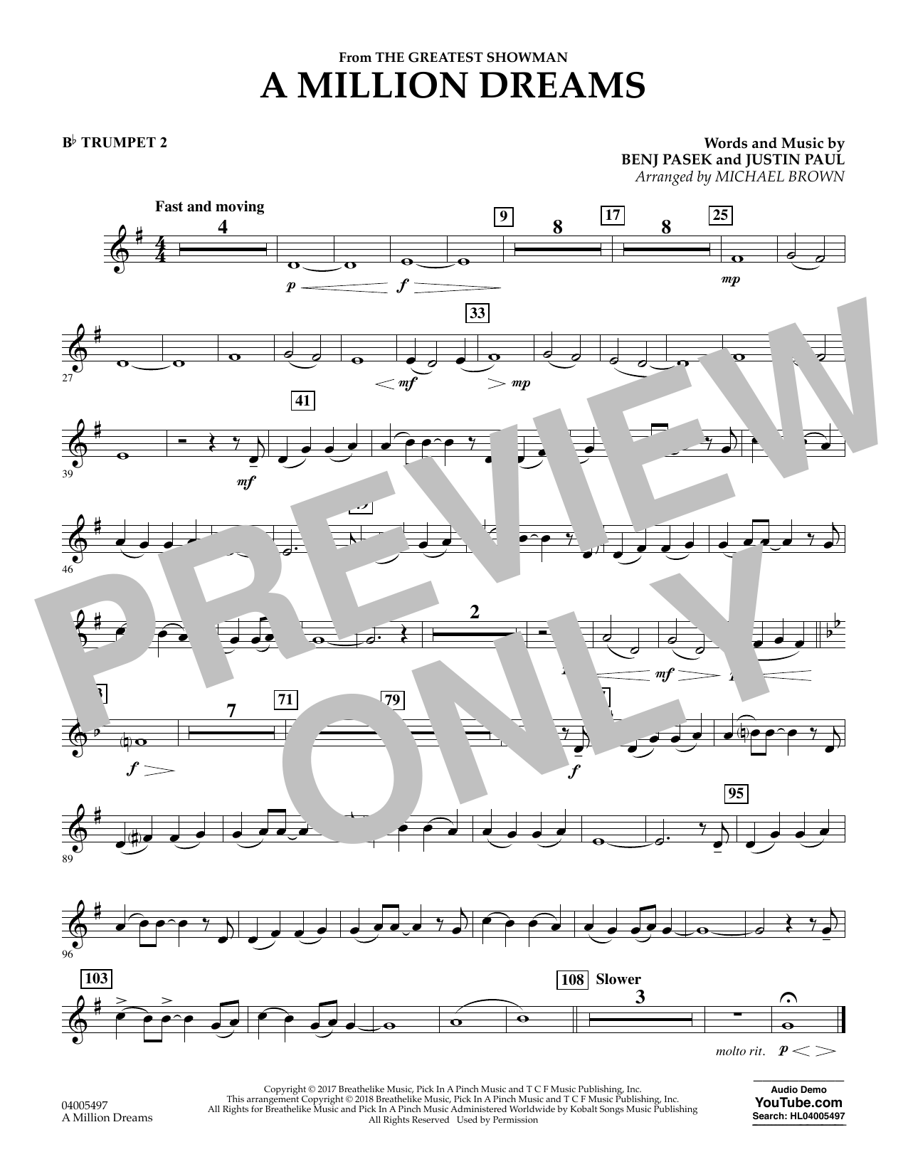 A Million Dreams - Bb Bass Clarinet by Benj Pasek, Justin Paul - Hal  Leonard - Prima Music