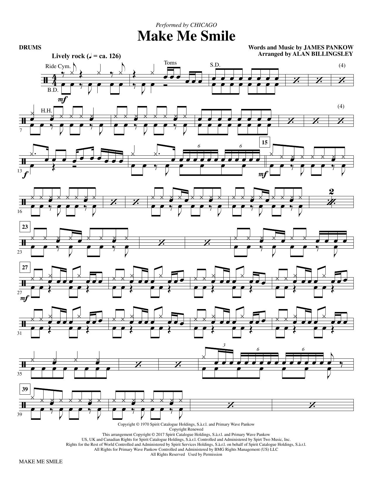 Make Me Smile - Drums (Choir Instrumental Pak)