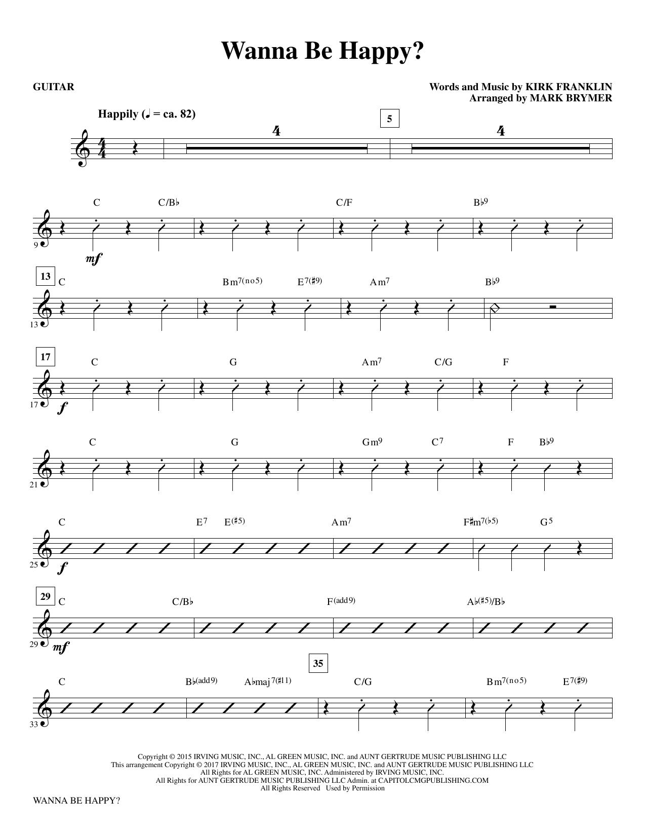 Wanna Be Happy? - Guitar (Choir Instrumental Pak)