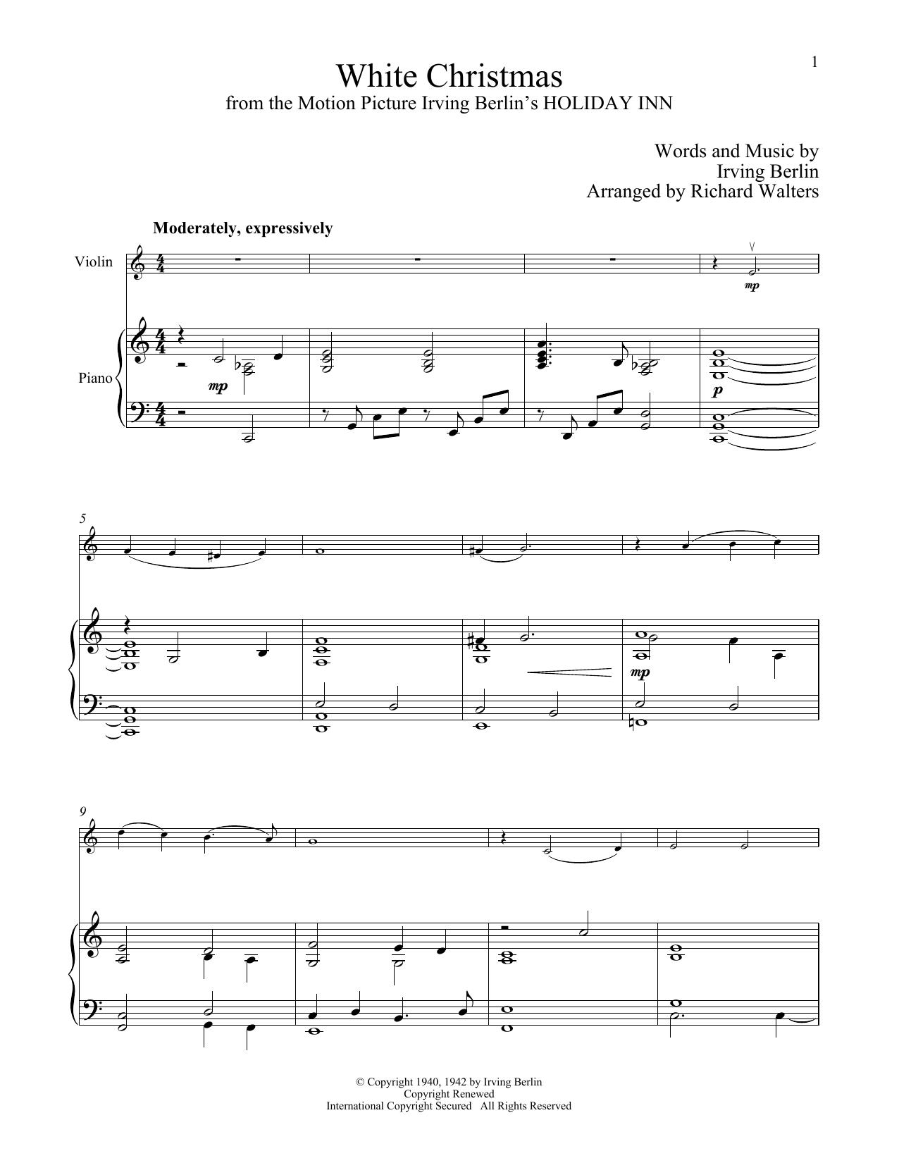 White Christmas (Violin and Piano)