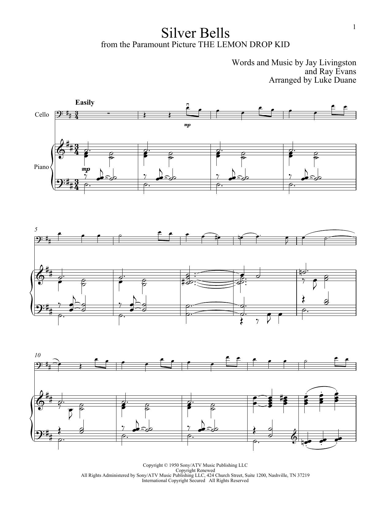 Silver Bells (Cello and Piano)