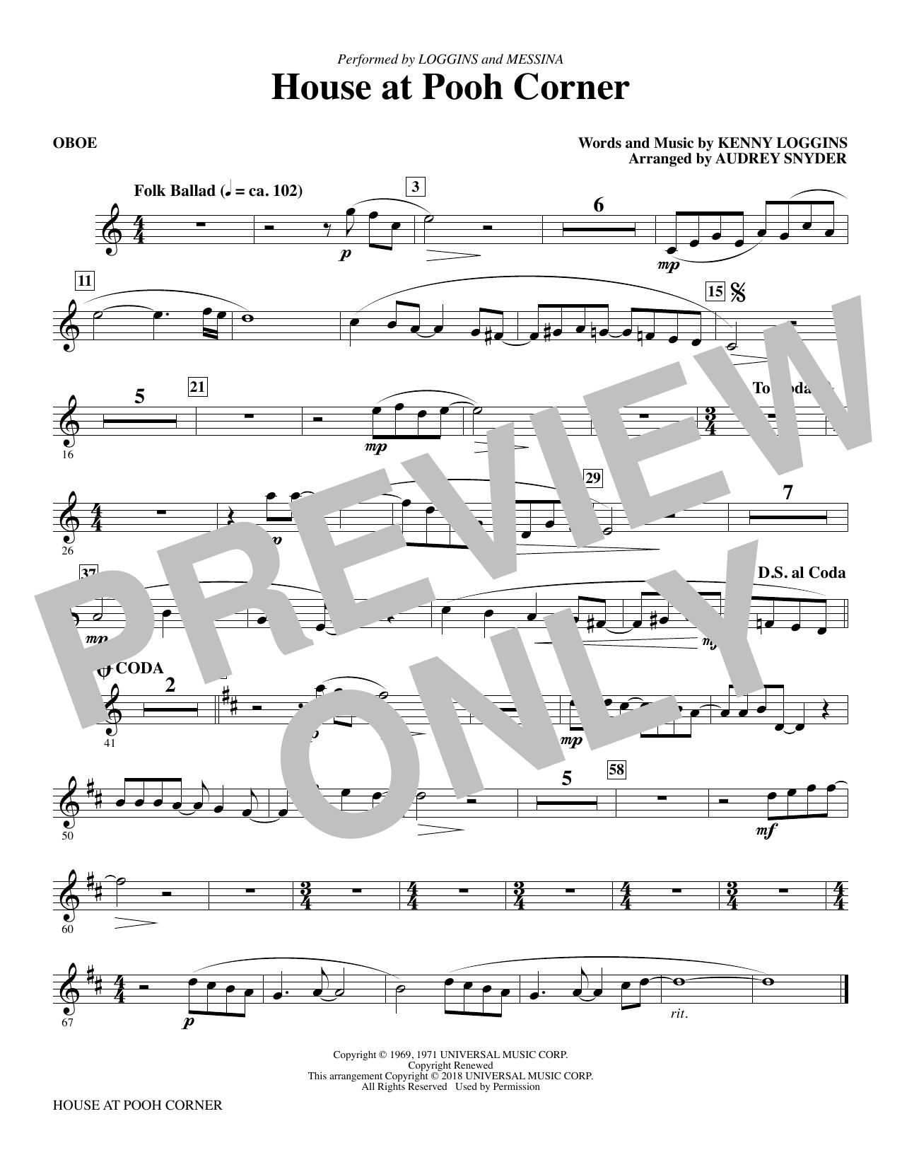 House at Pooh Corner - Oboe Sheet Music