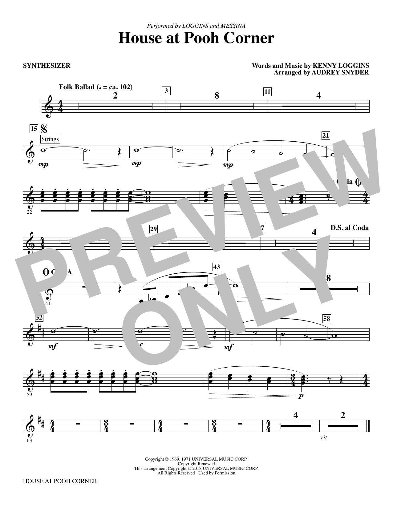 House at Pooh Corner - Synthesizer Sheet Music