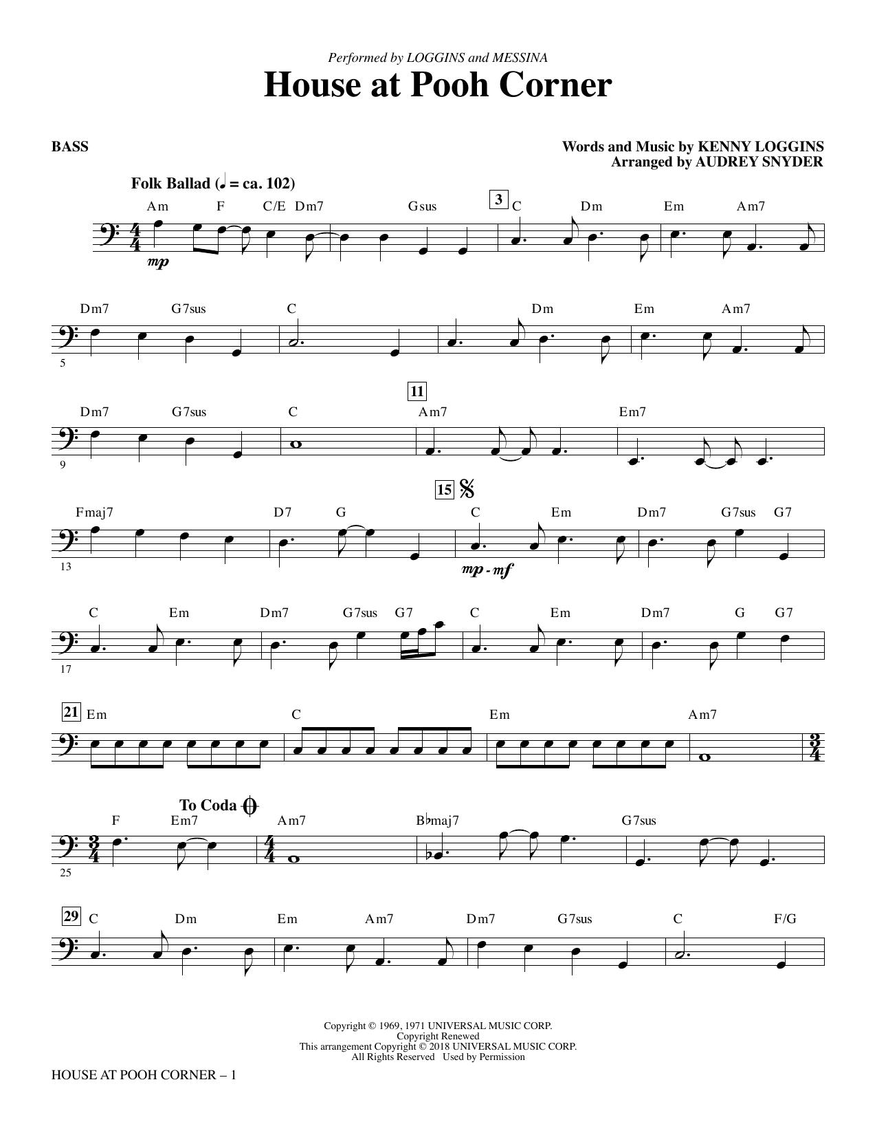 House at Pooh Corner - Bass Sheet Music
