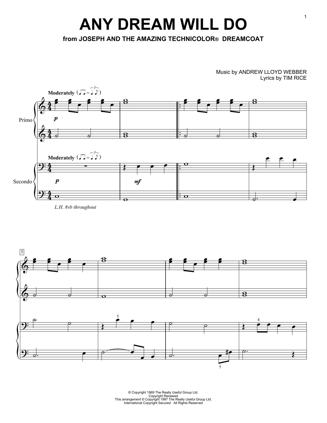 Any Dream Will Do (Piano Duet)