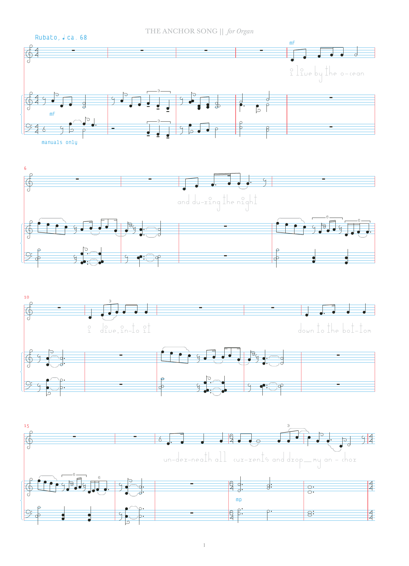 The Anchor Song Sheet Music