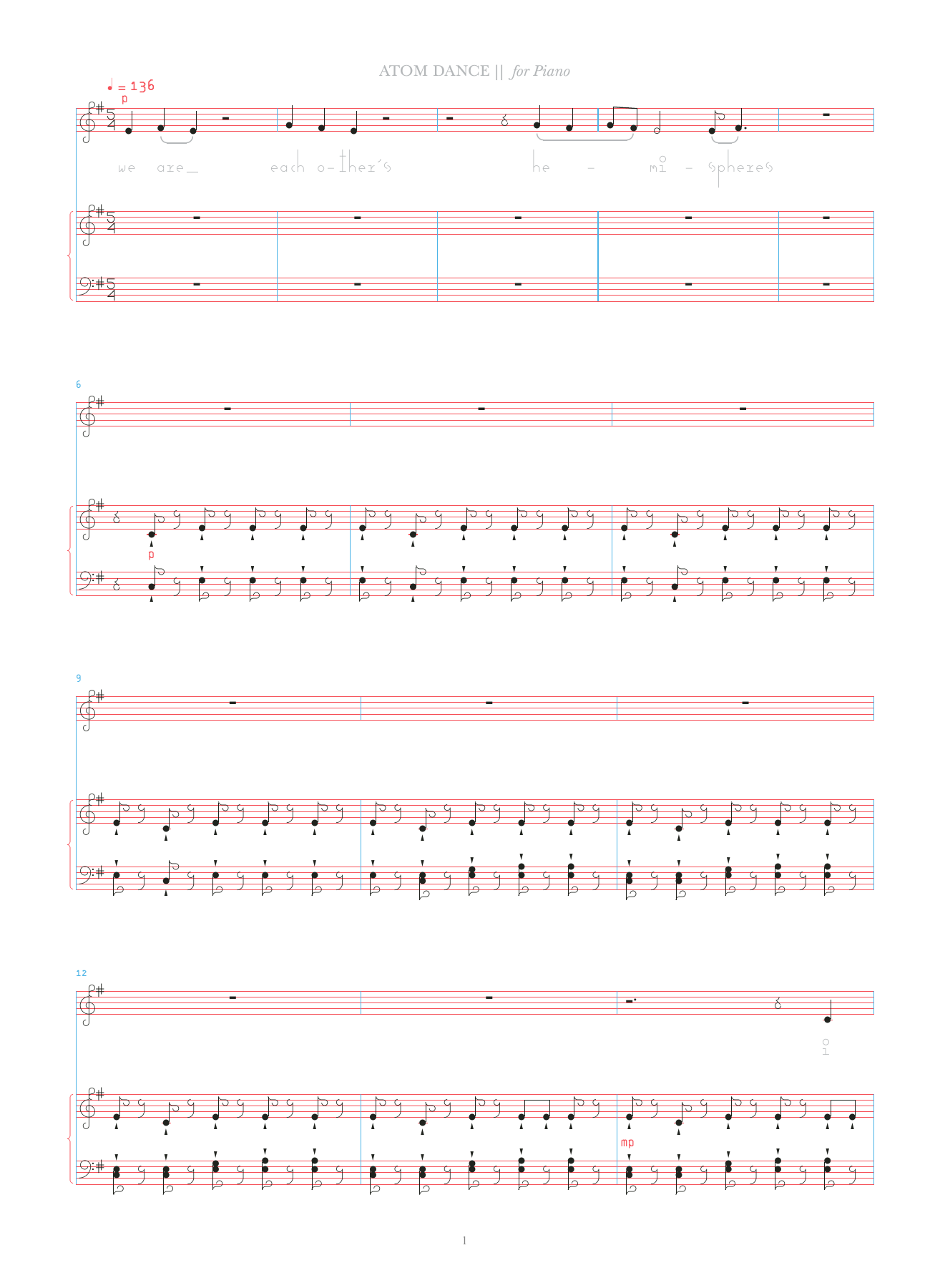 Atom Dance Sheet Music