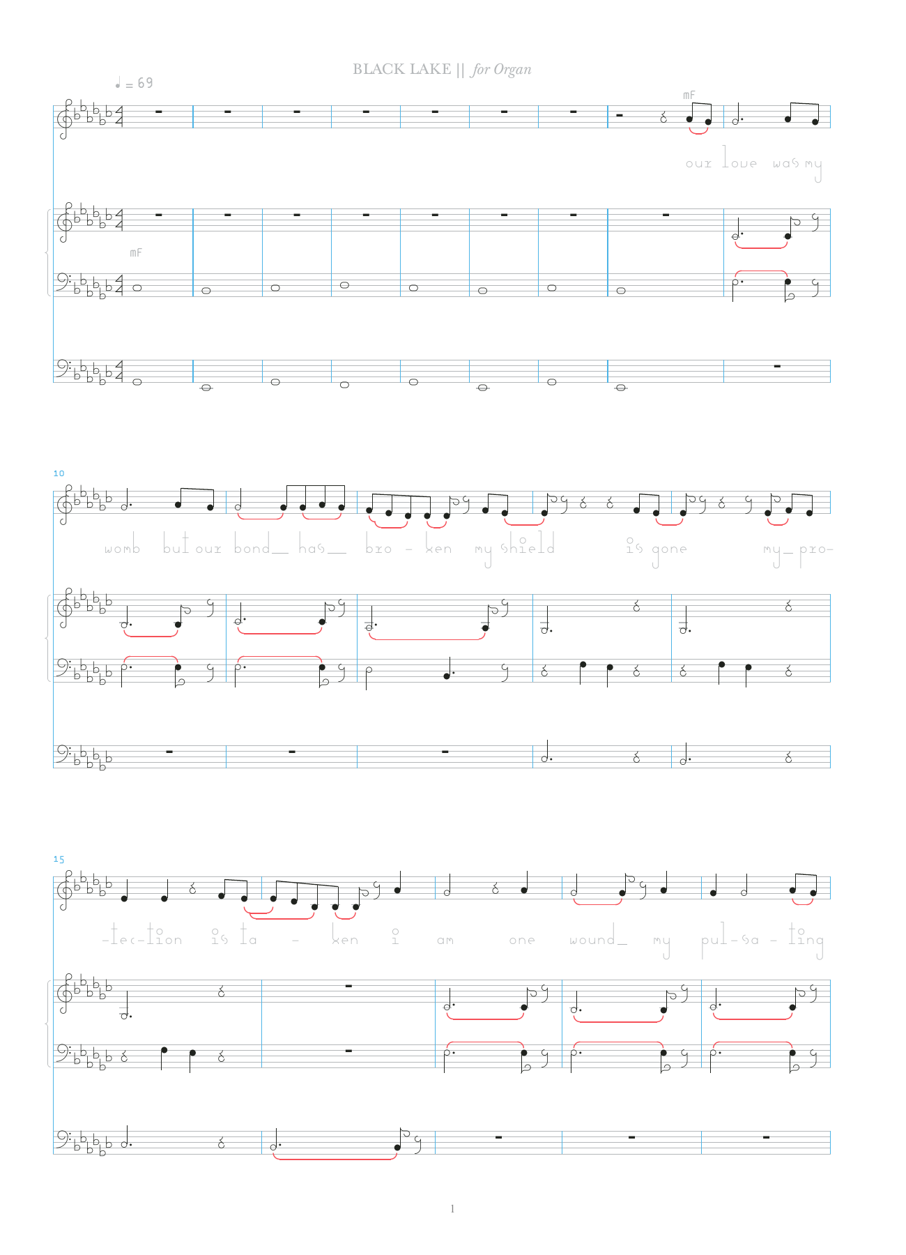 Black Lake Sheet Music
