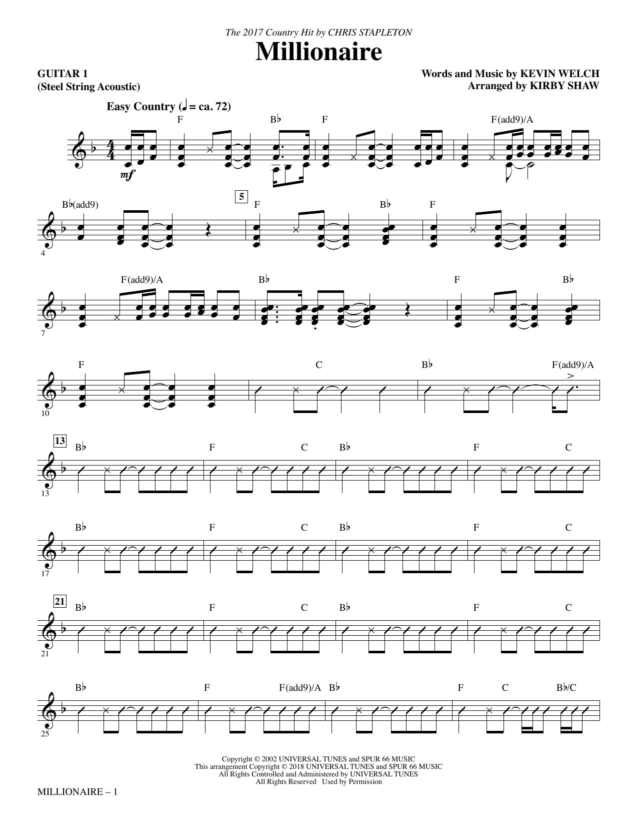 Millionaire - Guitar 1 (Choir Instrumental Pak)