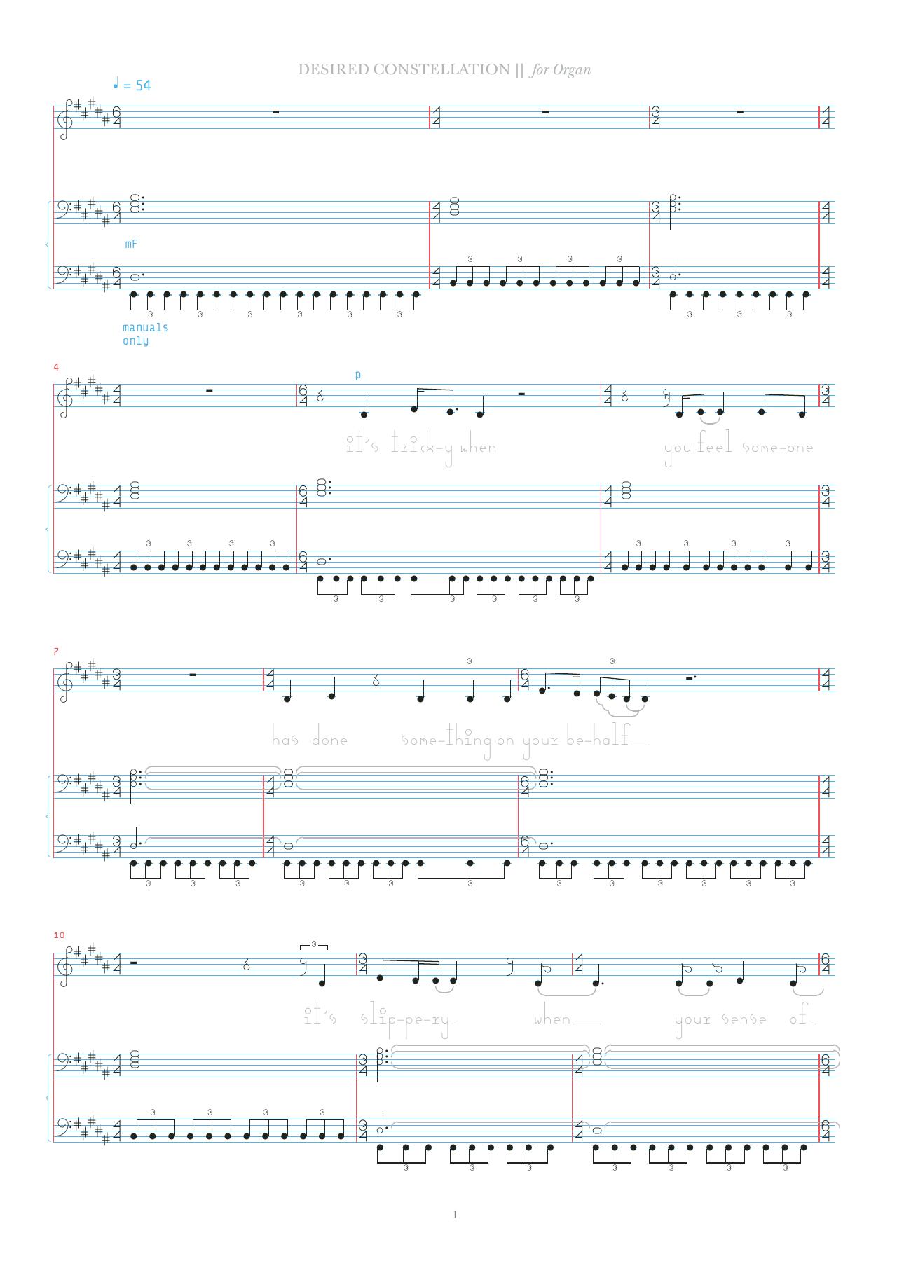 Desired Constellation Sheet Music