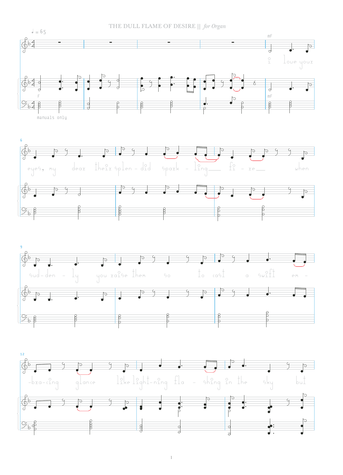 The Dull Flame Of Desire Sheet Music