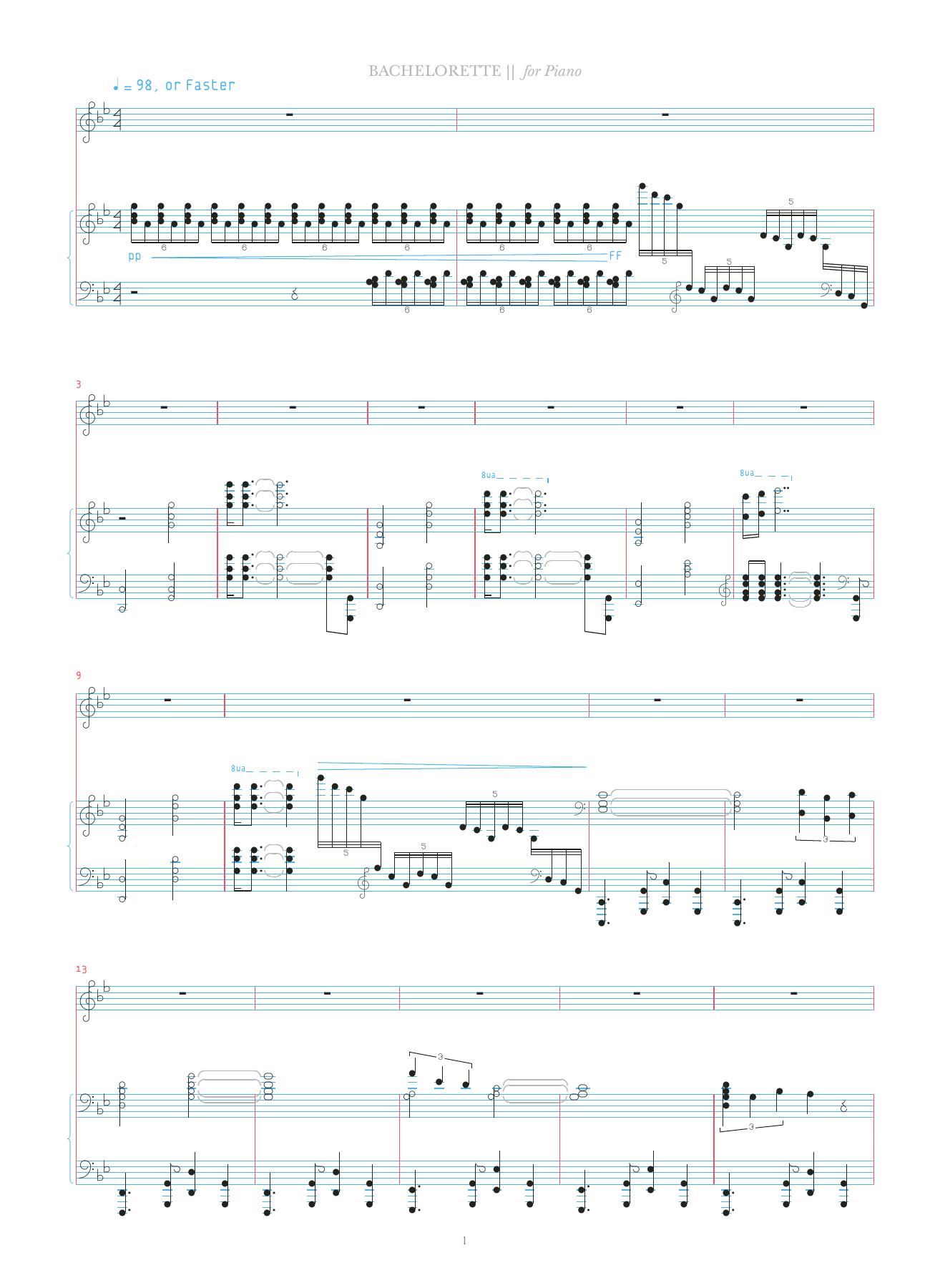 Bachelorette Sheet Music