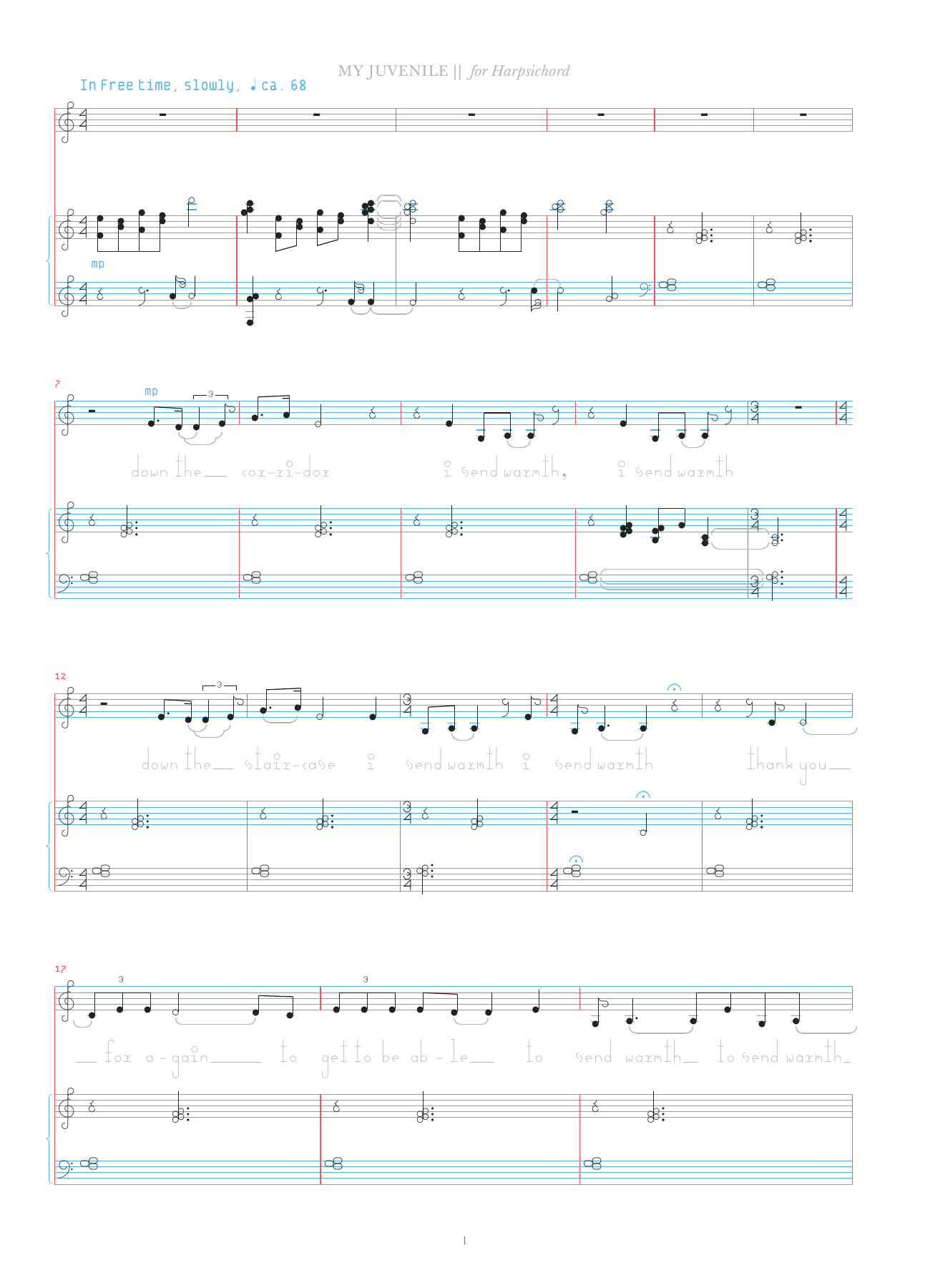 My Juvenile Sheet Music