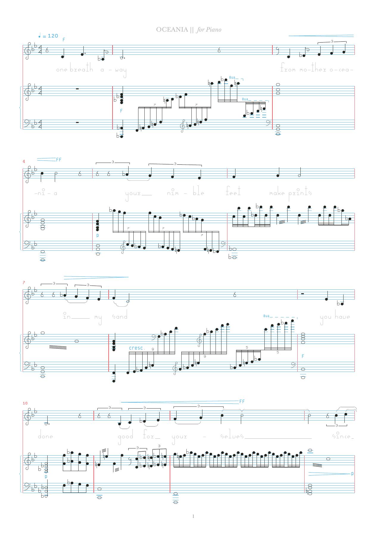 Oceania Sheet Music