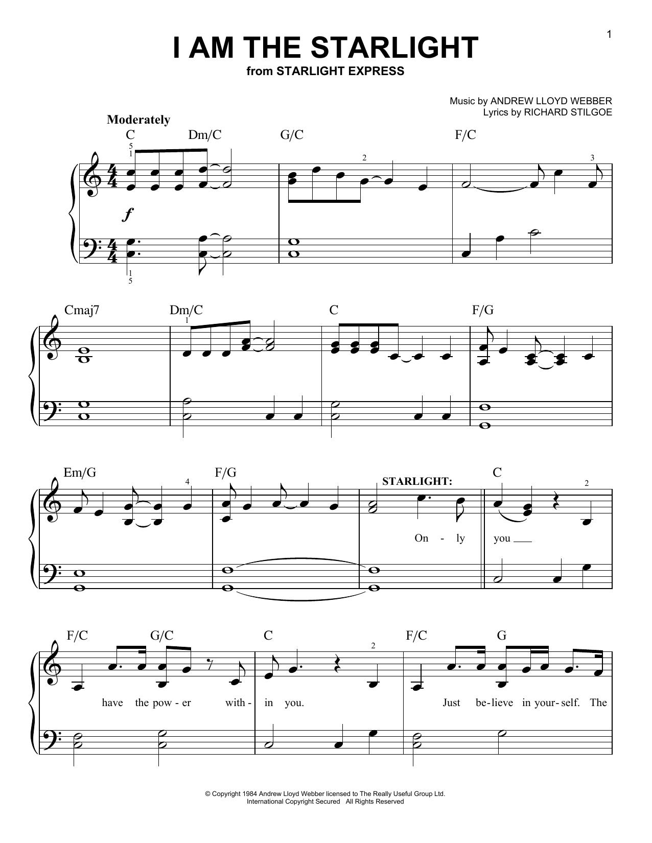 I Am The Starlight (Easy Piano)