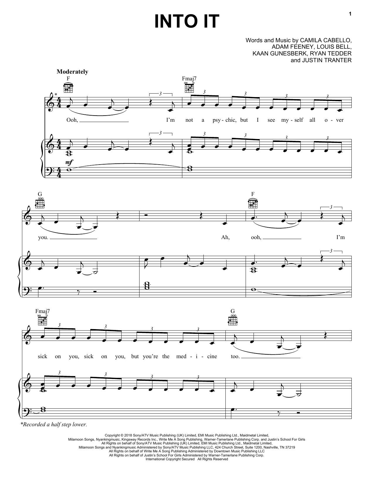 Into It (Piano, Vocal & Guitar (Right-Hand Melody))