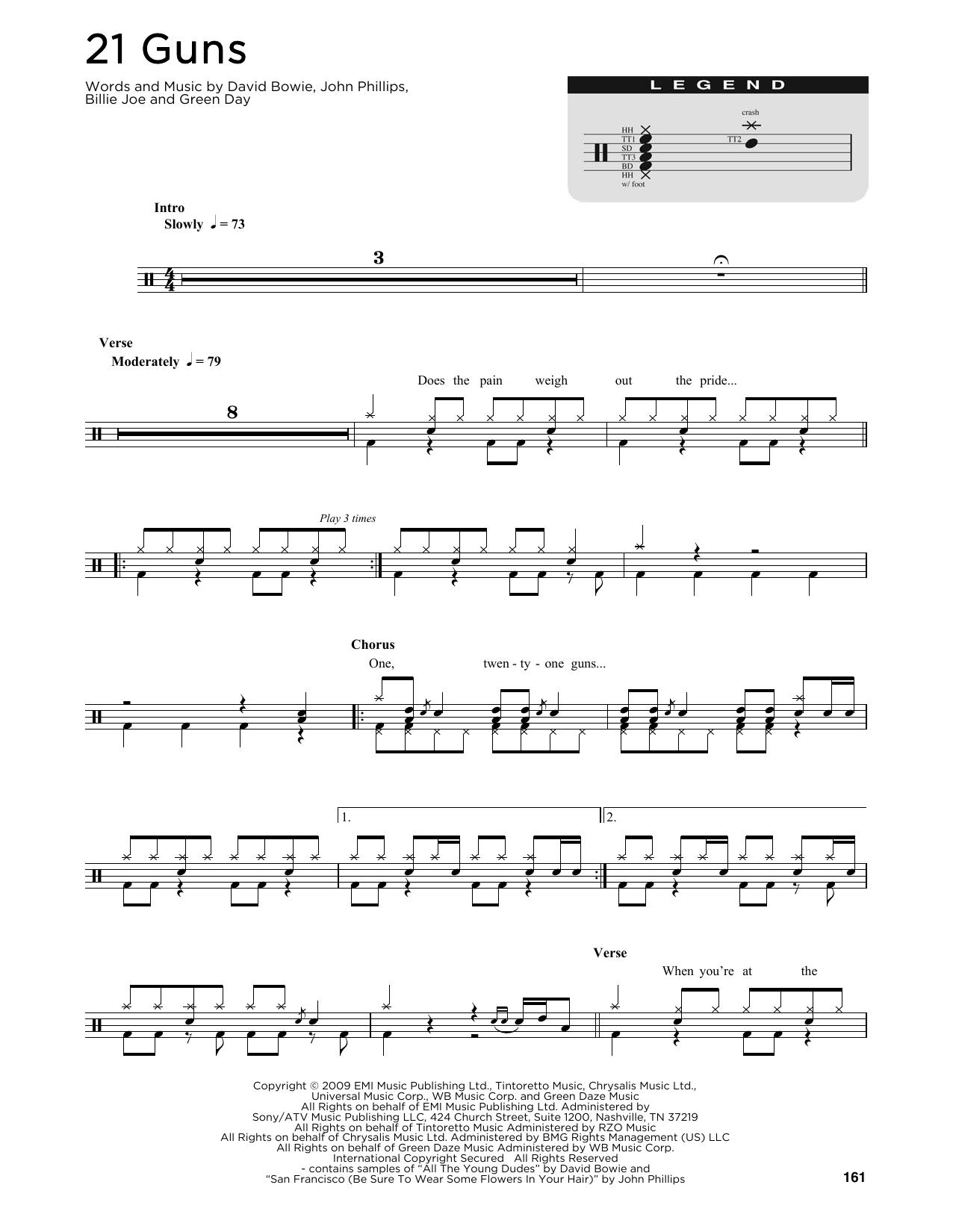 21 Guns Sheet Music