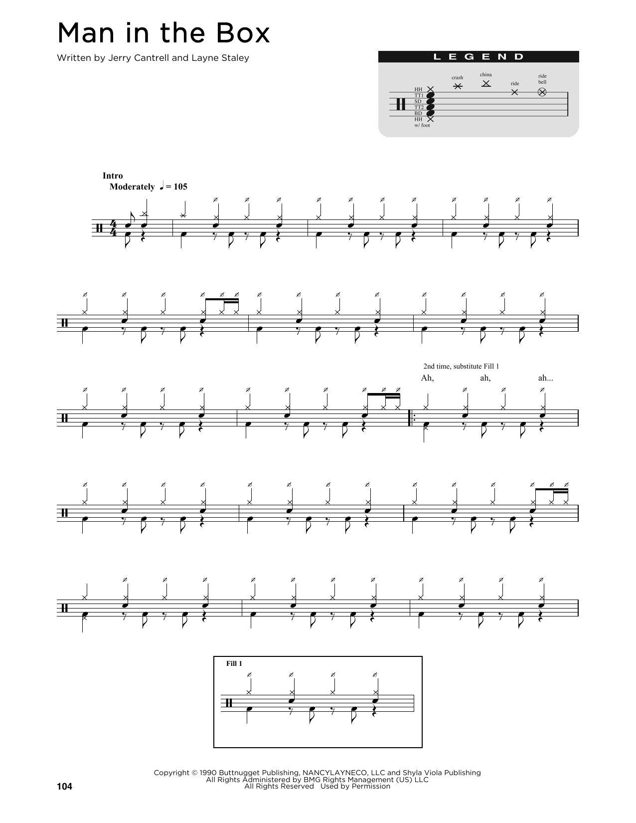 Man In The Box Sheet Music