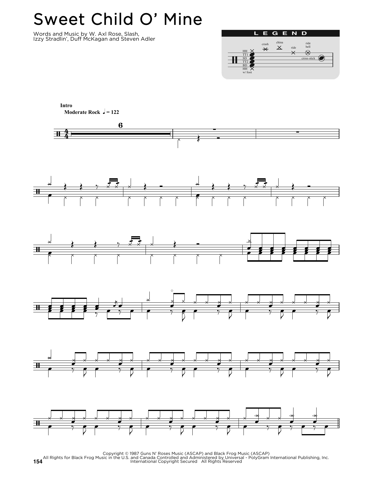 Sweet Child O' Mine by Guns N' Roses Piano, Vocal & Guitar (Right-Hand  Melody) Digital Sheet Music